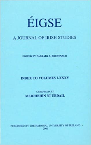 Amazon Com Eigse A Journal Of Irish Studies Index To Volumes 1 35 9780901510648 Ni Urdail Meidhbhin Books