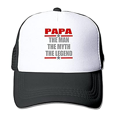 ZMvise Papa The Man Myth Legend Adjustable Trucker Hat Unisex Baseball Cap