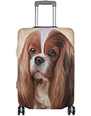 Mydaily Cavalier King Charles Spaniel Dog Luggage Cover Fits 22-24 Inch Suitcase Spandex Travel Protector M
