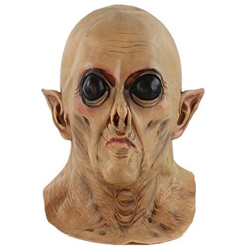 Halloween Mask Creepy Novelty Horror Zombie Full Head Deluxe Latex Mask Halloween Cosplay Prank Props ()