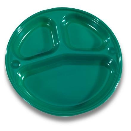Open Country 8 Inch Plastic Compartment Camping Plate - Set of 4 Plates