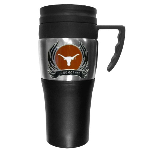 NCAA Texas Longhorns 2 Toned Travel Mug with Flame (Flame Logo Mug)