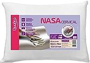 Travesseiro Nasa Cervical, Duoflex, 85% Algodão, 15% Poliéster, Bege, para Fronha 50Cmx70Cm