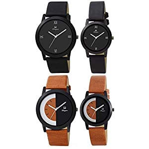 Om Designer Pack of 2 Couple Watch for Men & Women Combo of 2 mi-41785