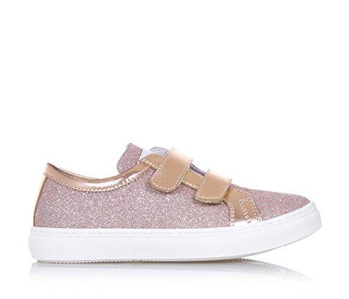CIAO BIMBI - Rosa Schuh aus Leder mit Glitzern, in jedem Detail gepflegt, Stil, Qualität, Mädchen
