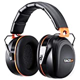 TACKLIFE Ear Muffs Noise Reduction Safety Ear Muffs NRR 28dB (SNR 34dB) Adjustable Head Band Folding-Padded Ear Cups for Comfort Shooter Safety Hearing Protection, Professional Ear Defenders for Hunting, Shooting, Construction work | HNRE1