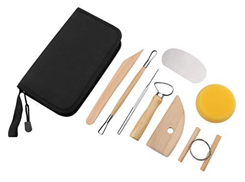 Sculpting Tools, Kattool 8-Piece Ceramic Pottery & Clay Sculpting Tool Kit Ceramic Tools Clay Cleaning Tool Set Clay Art - Tool Pottery 8 Piece