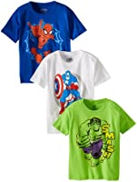 Marvel Boys' Character Tee 3 Pack