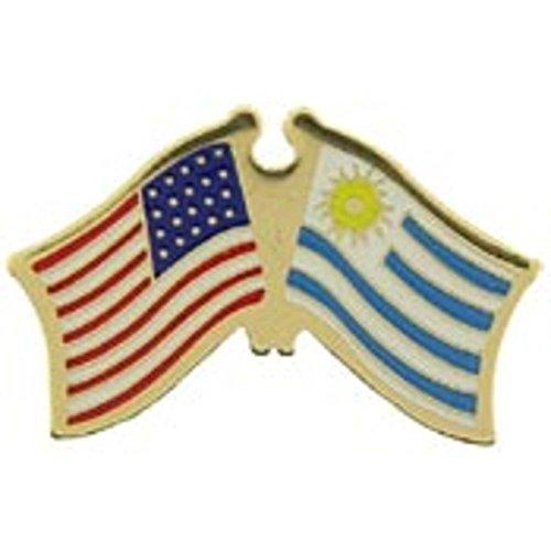 American & Uruguay Flags Pin 1