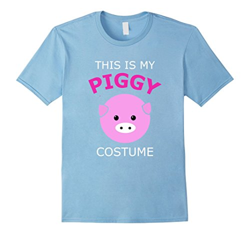 [Men's This is My Piggy Costume Pig T Shirt 2XL Baby Blue] (Pig Costume Amazon)