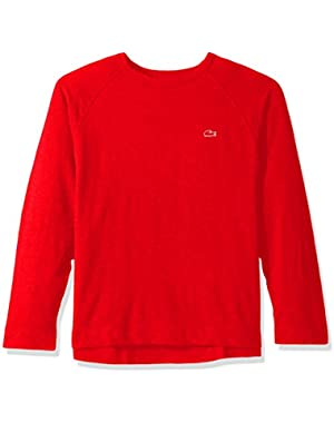 Men's Slubby Lightweight Fleece Crewneck Raglan Sleeve Sweater