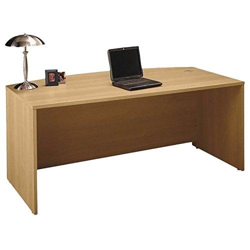 Bush Business Furniture Series C 72W x 36D Bow Front Desk in Light Oak