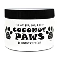 Coconut Paws Oils for Dogs Skin, Hair, Ears, Teeth, and Nails. - 8 fl oz - Organic Cold Pressed unrefined Coconut Oil, Virgin Olive Oil and Sunflower Oil - 8 fl oz
