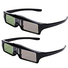 Seesii RF Bluetooth Active Shutter 3D Glasses For Epson 3020 3020E 5020 Projecotor KX60 With Key Chain