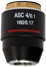 National Optical 704-160ASC 4X DIN Super High Contrast Objective Lens, N.A. 0.10, For 160 and 210 Microscopes