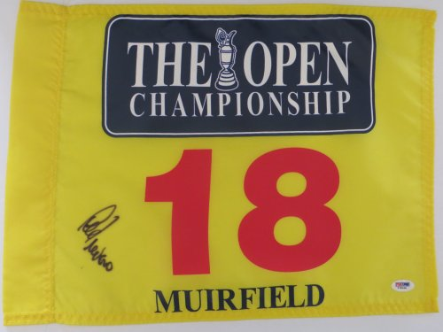 LEE TREVINO Signed BRITISH OPEN Golf Tournament Flag PSA DNA 2014 Masters Pga