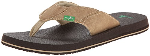 Men's Sanuk 'Off the Grid' Flip Flop, Size 9 M - Brown