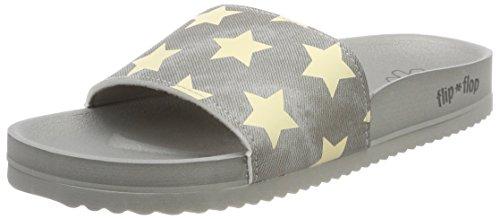 flip*flop Pool*Star - Sandalias con Punta Abierta Mujer Grau (Flint Grey)