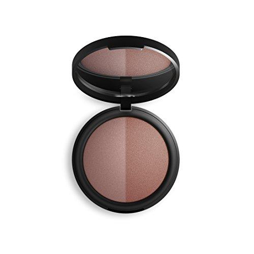 Inika Baked Mineral Blush Duo, Natural Make-Up Formula, Healthy Glow, Vegan 8g (0.28 oz) (Burnt ()