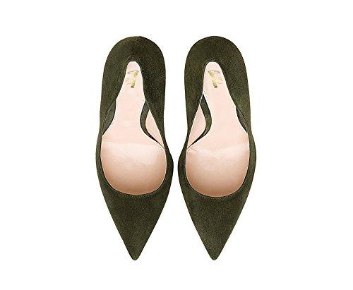 Hiomista Tummanvihreä Teräväkärkiset Qianzulian Seksikäs Kengät Naisten Liiketoiminnan Korkokengät Stiletto Toimiston Pumput P7xvAzPq