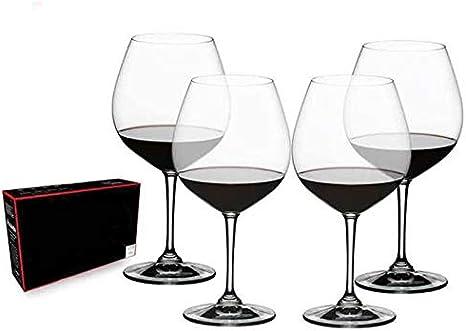 Vino Tinto Gafas, Juego De 4 Cáliz Caja De Regalo, Cristal Champagne Vidrio, Copas De Vino Amantes del Vino, para La Degustación De Vinos, Boda, Aniversario, Soirees, Fiesta, 730 Ml: Amazon.es: Hogar