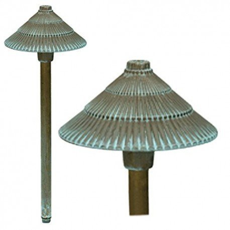 (LED Round Pagoda 1 Light Path Light Finish: Verdigris by Bronze)