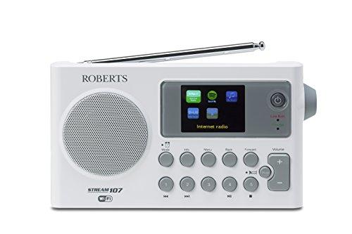 Roberts Radio Stream 107 Portable DAB/DAB+/FM/Wi-Fi Internet Radio with...