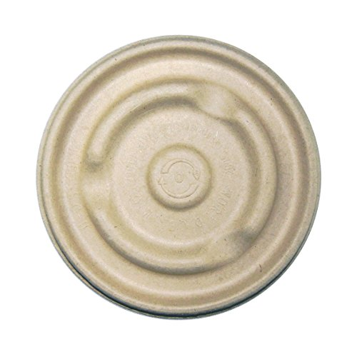 World Centric's Compostable Plant Fiber LIDS For 8-16 Ounce Plant Fiber Barrel Bowls (Pack of 300)