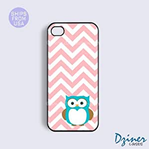 iPhone 5c Case - Pink Chevron Owl iPhone Cover