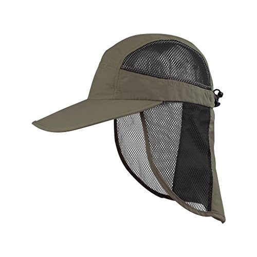 Juniper Outdoor UV Cap with Mesh Flap and Sides, One Size, -