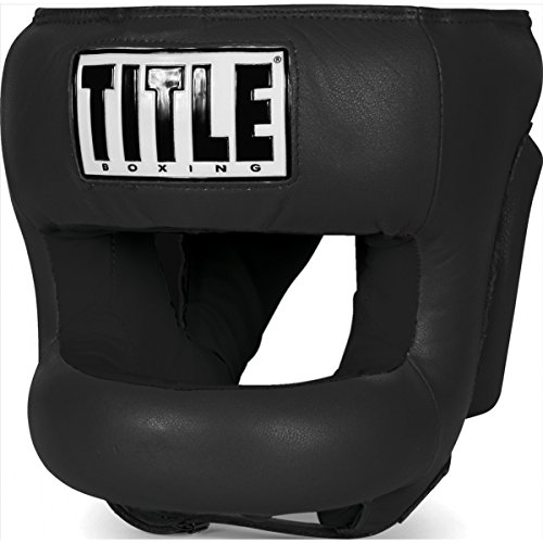 TITLE Face Protector Training Headgear, Black