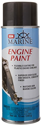 SEM M25513 Mercury Phantom Black Engine Paint - 12 oz. - Phantom White Aerosol
