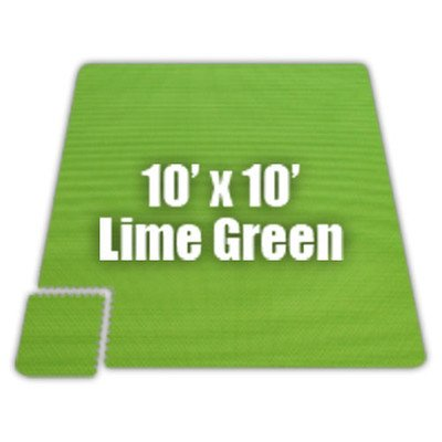 Premium SoftFloors Set in Lime Green Size: 10′ x 30′