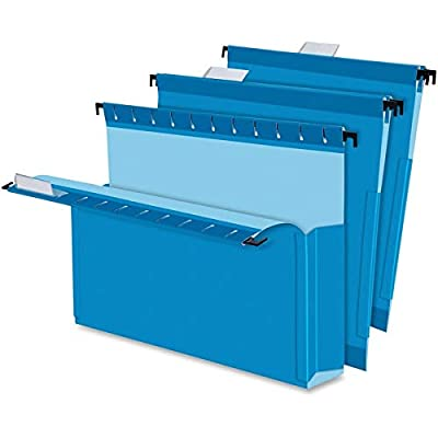 "Pendaflex 59202 SureHook Reinforced Hanging Box Files, 2"" Exp with Sides, Letter, Blue (Box of 25)"