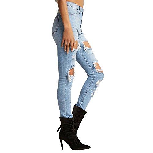la Big dchires de Femmes Jeans d'lasticit Jeans mode Hole S0wnpq6