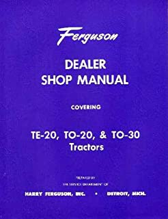 Amazon.com : 1951 1952 1953 1954 FERGUSON TO30 TRACTOR Owners Manual ...