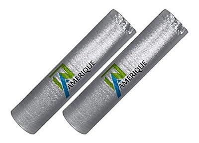 AMERIQUE AMSVPD3M400P Flooring Silver Chrome Underlayment Padding with Vapor Barrier
