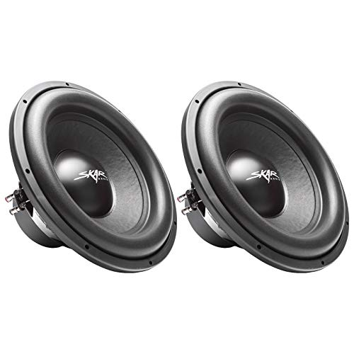 (2) Skar Audio Sdr-15 D2 15″ 1200W Max Power Dual 2 Ohm Car Subwoofers, Pair of 2
