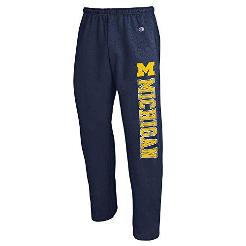 Michigan Wolverines Sweatpants Pockets Navy - L