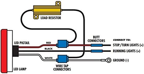 Flexzon 2 X 12v Led Load In Line Resistors 50w 6 Ohm For Led Rear Tail Lights Indicators Amazon Co Uk Car Motorbike