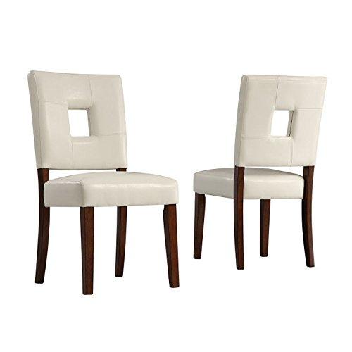 Home Creek Markus Keyhole Side Chair - Set of - Side Keyhole Chair