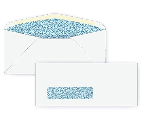 #9 Window Envelope - Blue Inside Tint - 24# White (3 7/8 x 8 7/8) - Window Envelope Series (Box of 500)