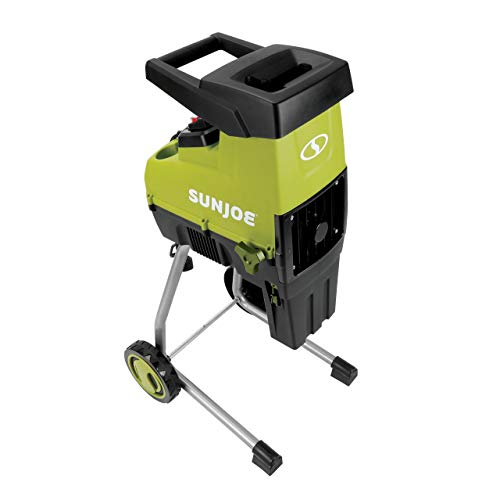 Sun Joe CJ603E 15-Amp 1.7-Inch Cutting Diameter Electric Silent Wood Chipper/Shredder, Green (Renewed)