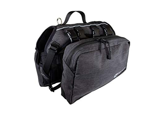 RC Pet Products Quest Day Pack, Dog Backpack, X-Large, Heather Black
