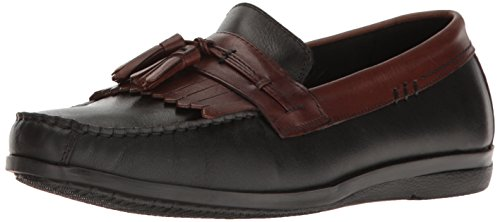 Dockers Men's Freestone Slip-on Loafer, Black/Antique Brown, 10.5 M US