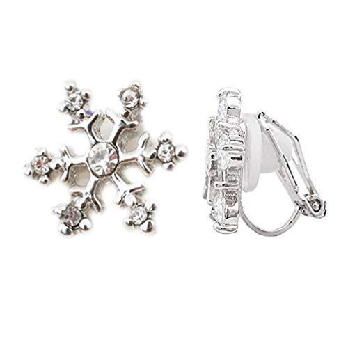 Clip On Earrings Snowflake...