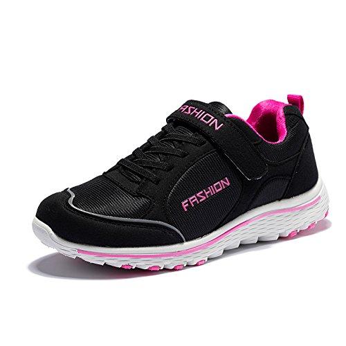 Las rose Hasag Zapatos Mujer el Fondo Madre Femenino Antideslizante Deportivos de y A1 Primavera Transpirable Verano Edad black red Zapatos Mujeres Mediana Suave de BrwPqUBx