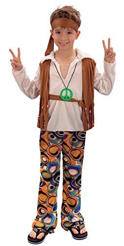 Childrens Hippy Boy Fancy Dress Costume 60's 70's Age 10-12 (Sixties Fancy Dress Costumes)