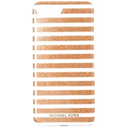 888e359d6181ec Michael Kors Glitter Stripe Snap-On Case For iPhone X, Rose Gold