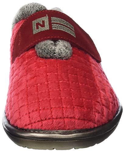 Pantofole rojo Sul Retro Top 019 Rosso Donna Nordikas Line Aperte 6qwFZ7EHT